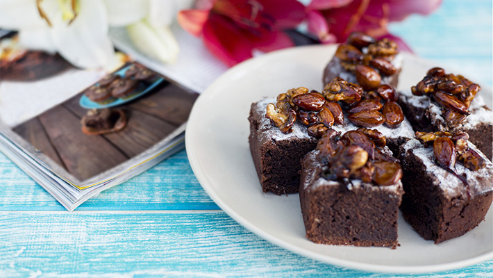 Csokis-diós sütemény