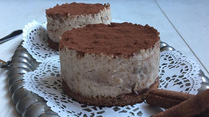 Meggyes gesztenye mousse tortácska