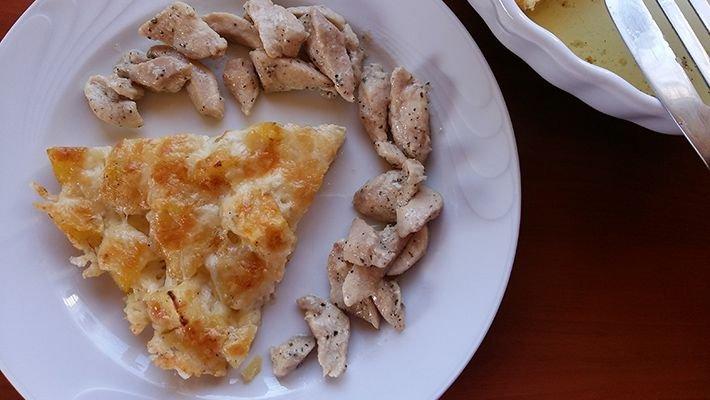 Sütőben sült sajtos burgonya